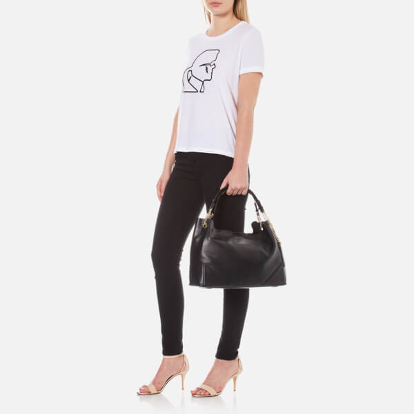 73acbd041e Karl Lagerfeld Women s K Slouchy Shopper Bag - Black  Image 2