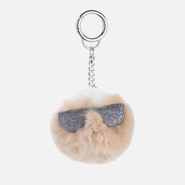 Karl Lagerfeld Women's K/Kocktail Fur Karl Keychain - Seashell