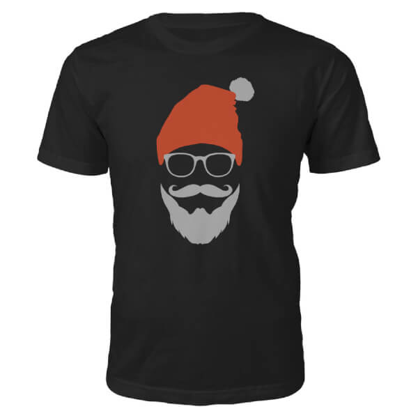 Cool Santa Christmas T-Shirt - Black