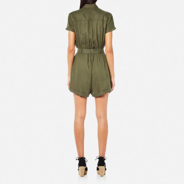 9e89a83bbc55 Superdry Women s Boho Utility Playsuit - Khaki Womens Clothing ...