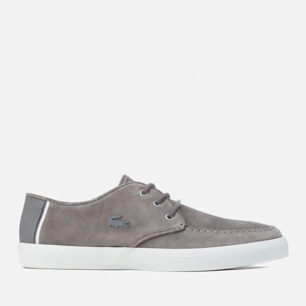Lacoste Mens Sevrin 316 1 Suede Boat Shoes  Dark Grey Image 1
