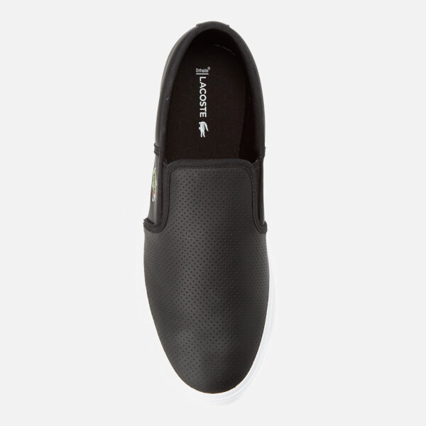 1545bb5cb547b Lacoste Men s Gazon Bl 1 Leather Slip-On Trainers - Black  Image 3