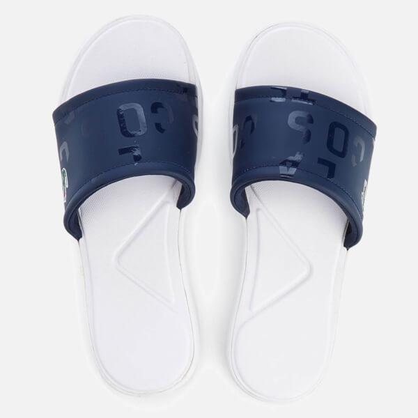 0c7f204f19a1c3 Lacoste Women s L.30 Slide 117 1 Slide Sandals - Navy  Image 1