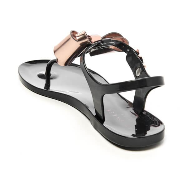 Ted Baker Women S Ainda Ankle Strap Bow Sandals Black