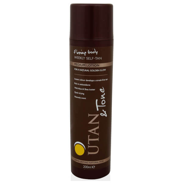 UTAN and Tone Weekly Self-Tan Lotion Medium 200ml