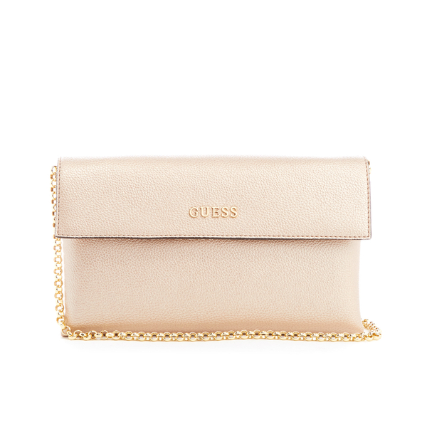Guess Women s Tulip Envelope Clutch Bag - Champagne  Image 1 79bb7767728e6