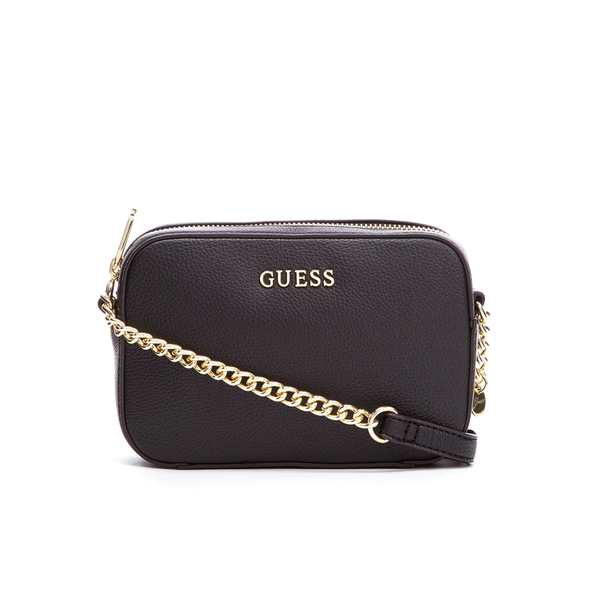 4959a60f80 Guess Women s Isabeau Mini Cross Body Top Zip Bag - Black Clothing ...