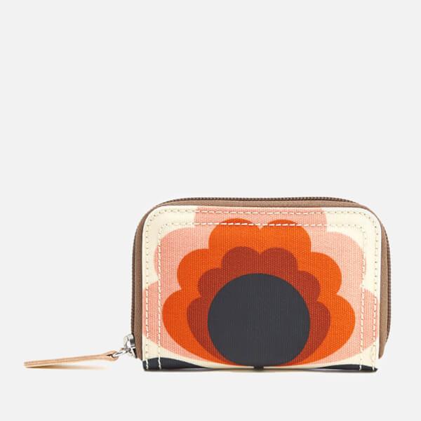 Orla Kiely Women's Sunset Medium Zip Wallet - Sunset
