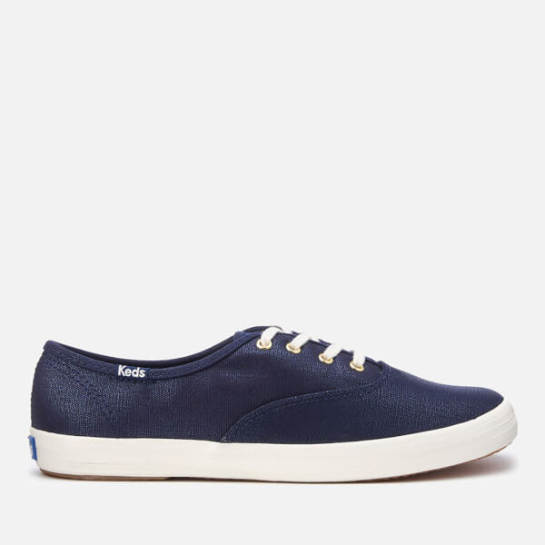 Keds Women's Champion Metallic Canvas Plimsoll Trainers - Peacoat Navy