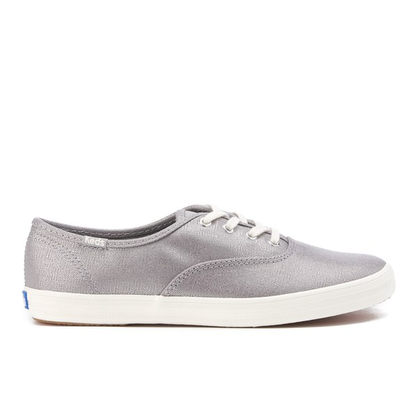 Keds Women's Champion Metallic Canvas Plimsoll Trainers - Silver