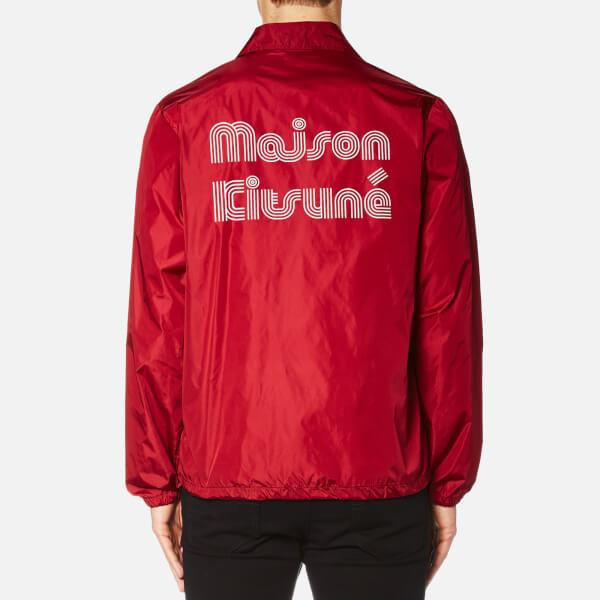 Maison Kitsuné Men's Plain Bertil Windbreaker Jacket - Red - Free ...