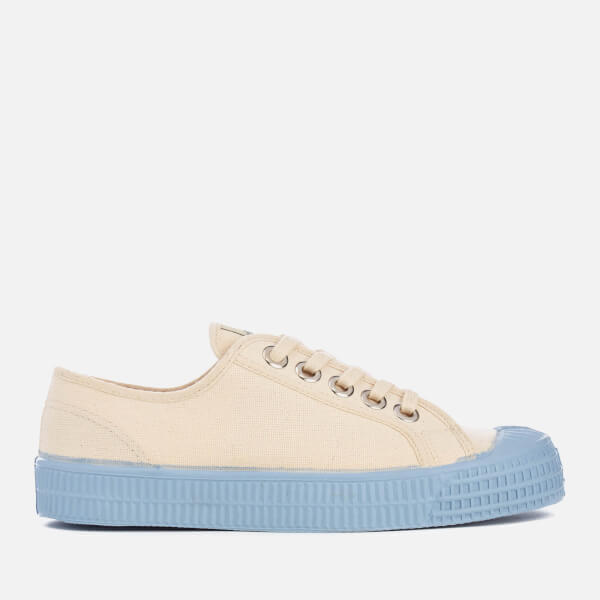 Novesta Women's Star Master Colour Sole Trainers - Beige/Grey Blue