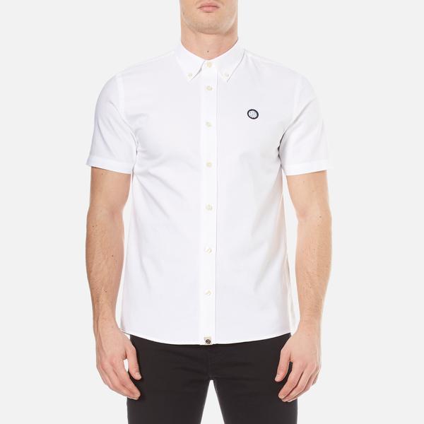 Pretty Green Men's Short Sleeve Oldbury Oxford Shirt - White