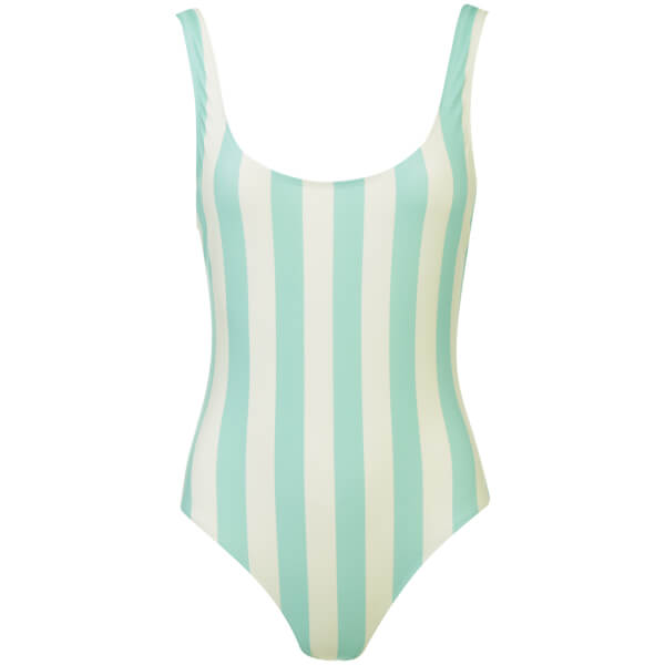 Solid & Striped Women's The Anne-Marie Swimsuit - Aqua/Cream Stripe