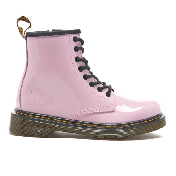 Dr. Martens Kids' Delaney Patent Lamper Lace Boots - Baby Pink