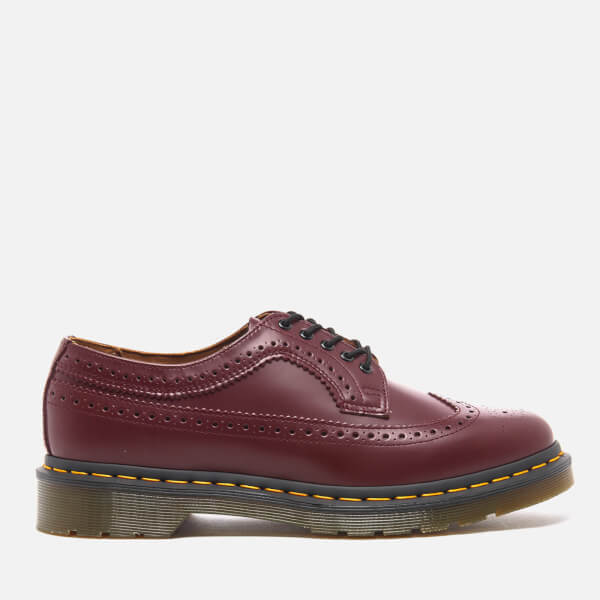 Dr. Martens Men's 3989 Original Archives Smooth Wingtip Brogues - Cherry Red