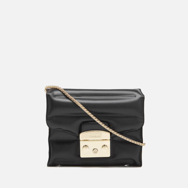 Furla Women's Metropolis Oxygen Mini Cross Body Bag - Onyx