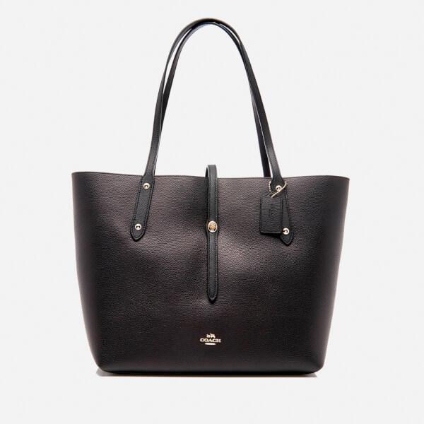 Coach Women's Market Tote Bag - Black/True Red