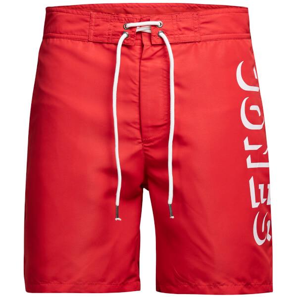 Jack & Jones Men's Classic Board Shorts - Racing Red