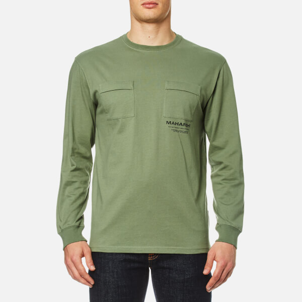 Maharishi Men's Long Sleeve T-Shirt Militaire Couvert - Patina