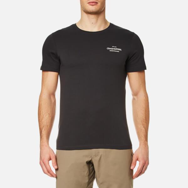 Craghoppers Men's Eastlake Small Logo Short Sleeve T-Shirt - Black Pepper