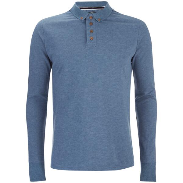 Polo à Manches Longues Lincoln - Homme Threadbare - Bleu Vintage