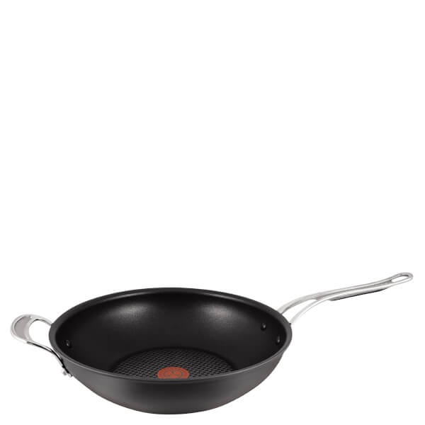 Jamie Oliver by Tefal H9028844 Hard Anodised Non-Stick Wok - 30cm