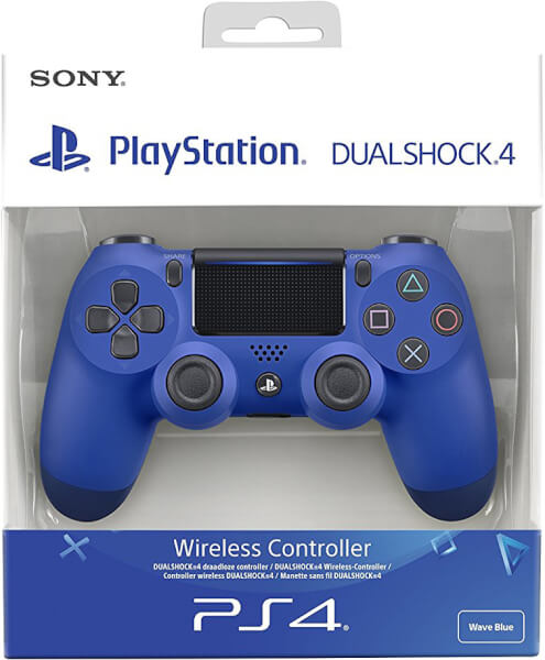 Sony PlayStation 4 DualShock 4 V2 Wave Blue Games ...