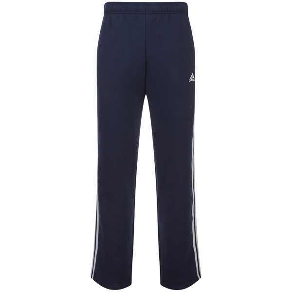 adidas Men's Essential 3 Stripe Fleece Sweatpants - Navy