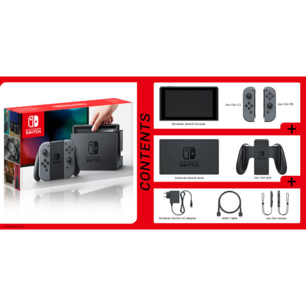 Nintendo Switch With Grey Joy Con Controllers Nintendo Official Uk