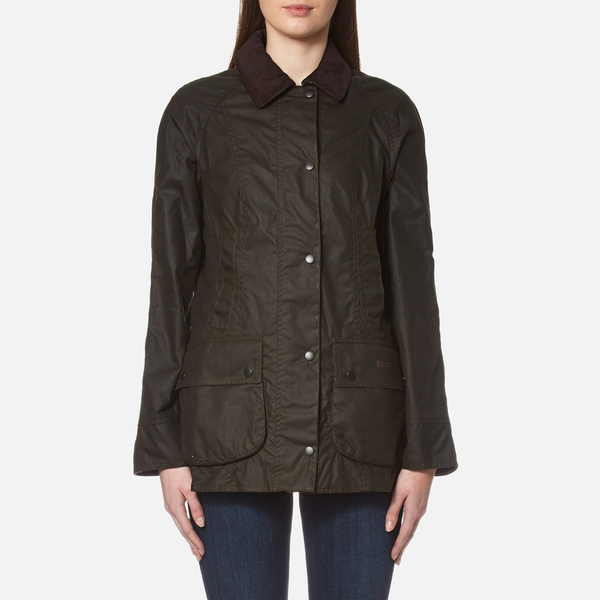 Barbour Women S Classic Beadnell Wax Jacket Olive Womens