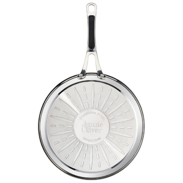 Jamie Oliver by Tefal Stainless Steel Non-Stick 3 Piece Frying Pan Set - 24 625e210c234a