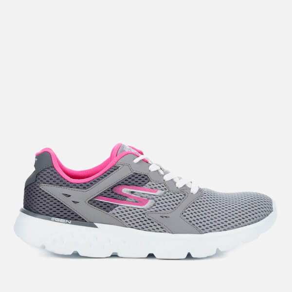 Baskets Femme Go Run 400 Skechers - Gris Charbon / Rose