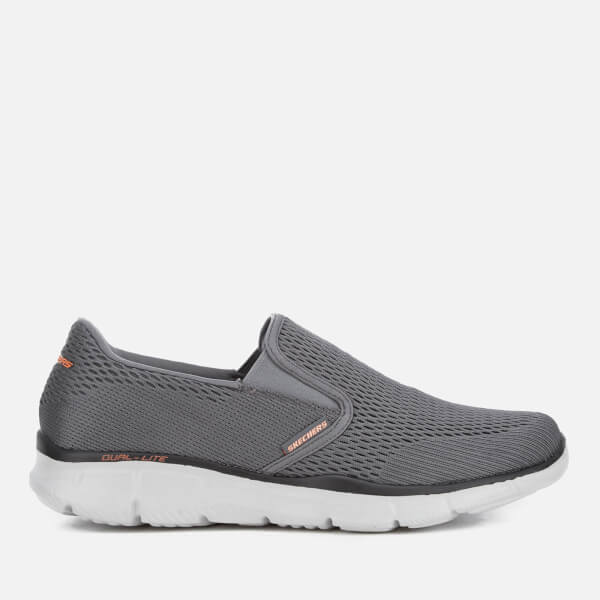 Skechers Men's Equalizer Double-Play Trainers - Charcoal/Orange