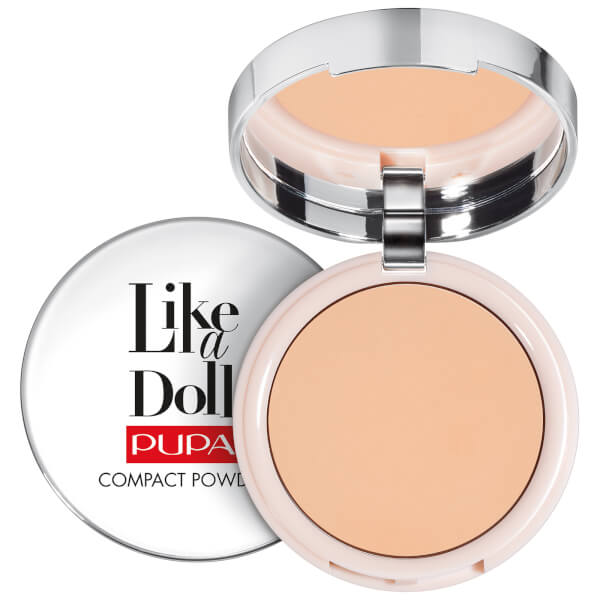 PUPA Like A Doll Perfecting Make-Up Nude Look Compact Powder (Various Shades)