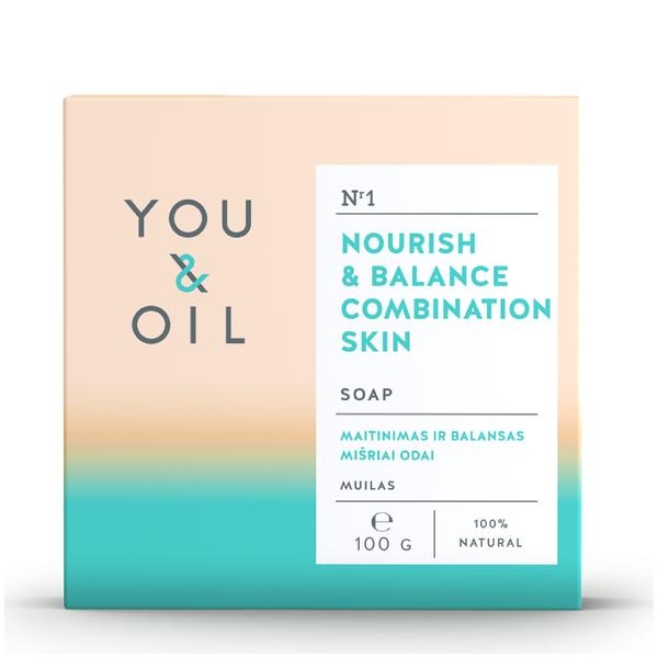 You & Oil Nourish & Balance Soap for Combination Skin 100g