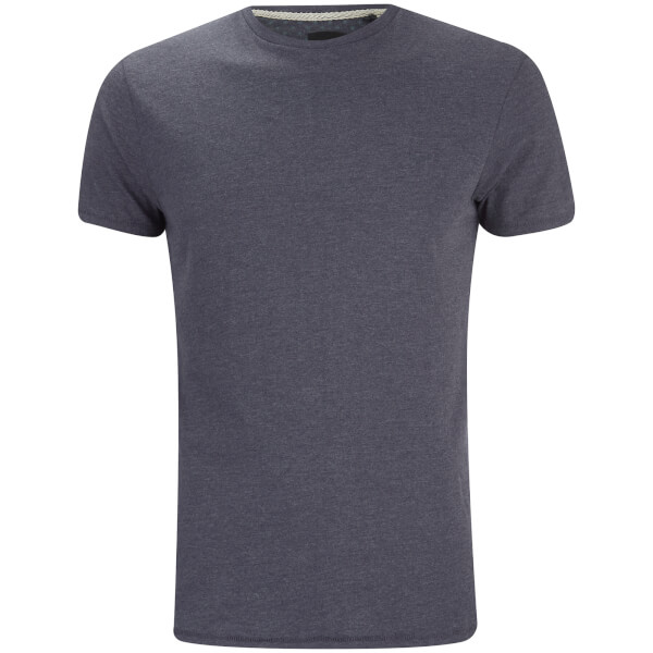 T-Shirt Homme William Col Rond Threadbare -Marine