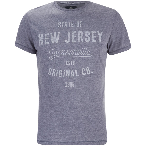 T-Shirt Homme State Col Rond Threadbare -Gris Bleu