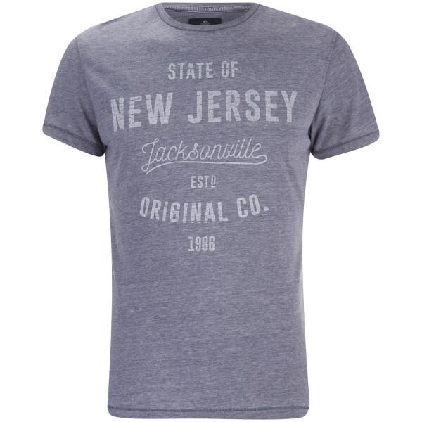 Threadbare Men's State Crew Neck T-Shirt - Navy
