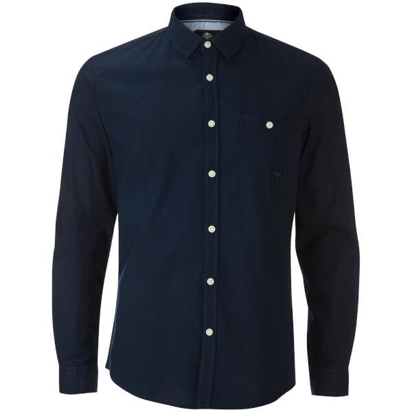 Threadbare Men's Butterbean Long Sleeve Shirt - Navy