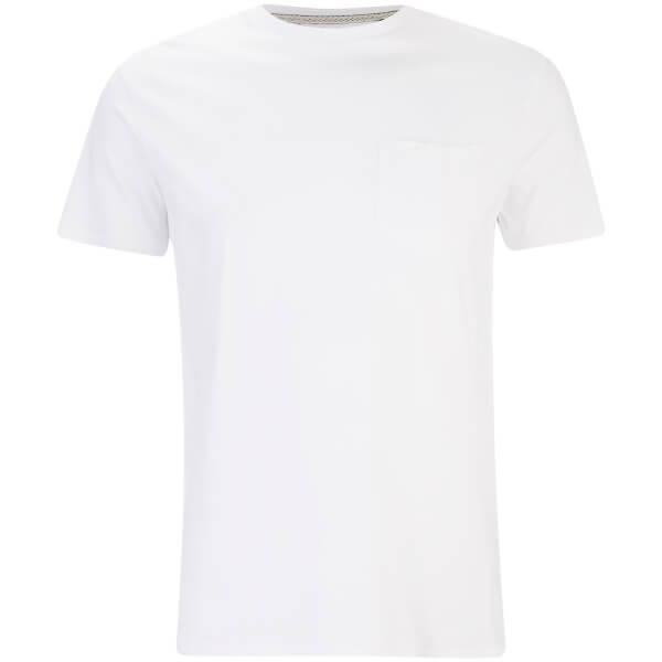 Threadbare Men's Jack Crew Neck Pocket T-Shirt - White