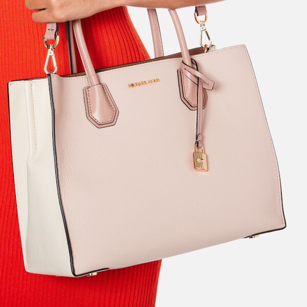 588c3c8600 ... Soft Pink Saffiano Leather Tote Bag MICHAEL MICHAEL KORS Womens Large  Conv Tote Bag - White Image 3 ...