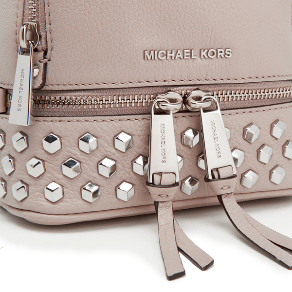 84d4670edc32 MICHAEL MICHAEL KORS Women's Rhea Zip Studded XS Messenger Backpack -  Cement: Image 2