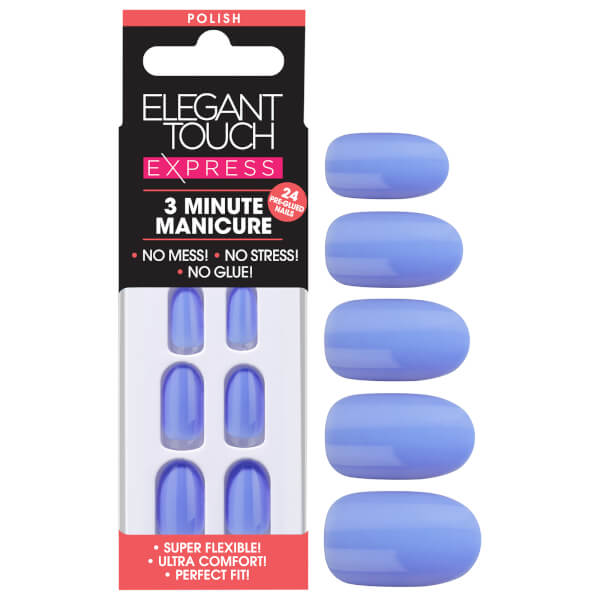 Elegant Touch Express Polish Nails - Cornflower Blue