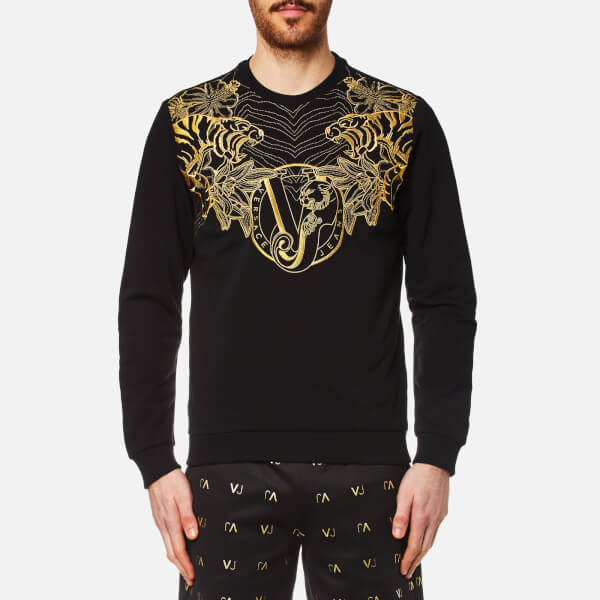 525b7599a0cf Versace Jeans Men s VJ Logo Sweatshirt - Nero Mens Clothing