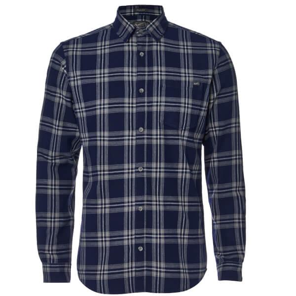 Jack & Jones Men's Originals Larson Long Sleeve Check Shirt - Peacoat