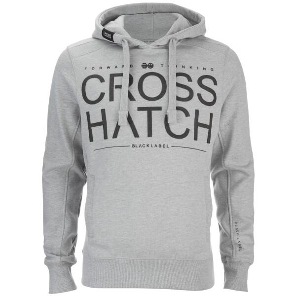 Crosshatch Men's Sevcon Rib Detail Hoody - Grey Marl