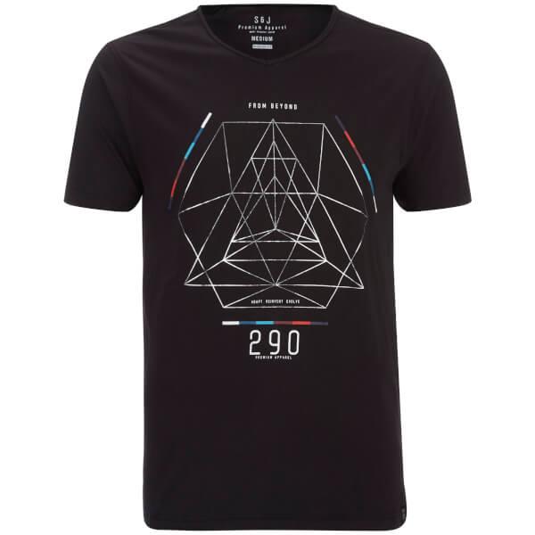 T-Shirt Homme Byzantine Asymmetric Smith & Jones -Noir