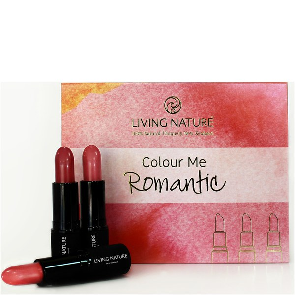 Living Nature Color Me Romantic Lipstick Set - 3 Different Shades of Pink