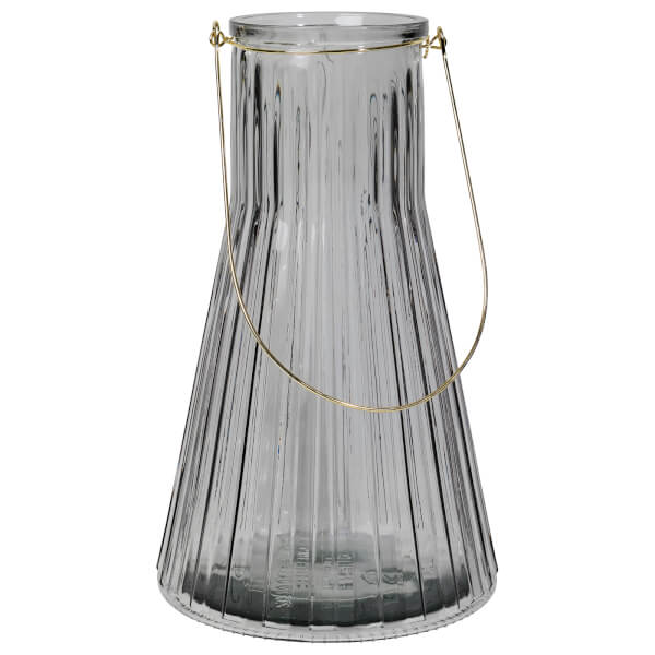 Broste Copenhagen Emil' Glass Lantern - Clear